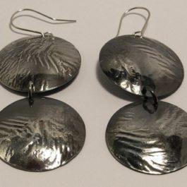 Kolczyki dwa kółka z morką